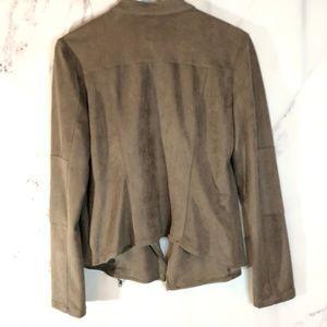 Miilla Clothing Jackets & Coats - Miilla NWT Taupe Suede fabric jacket medium